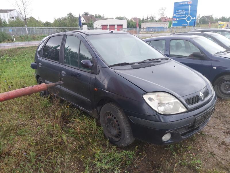 Naudotos automobilio dalys Renault SCENIC 1999 1.9 Mechaninė Vienatūris 4/5 d. Melyna 2020-8-31