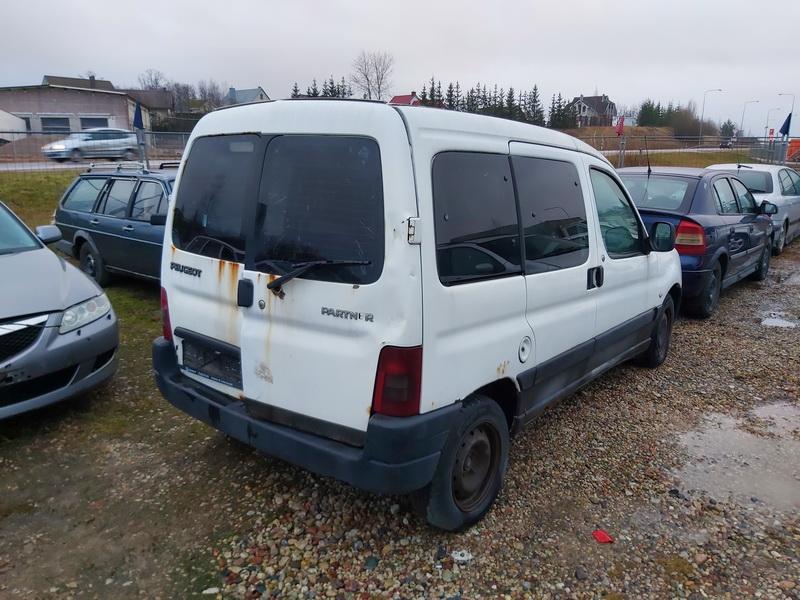 Naudotos automobilio dalys Peugeot PARTNER 2003 1.9 Mechaninė Komercinis 4/5 d. Balta 2020-1-13