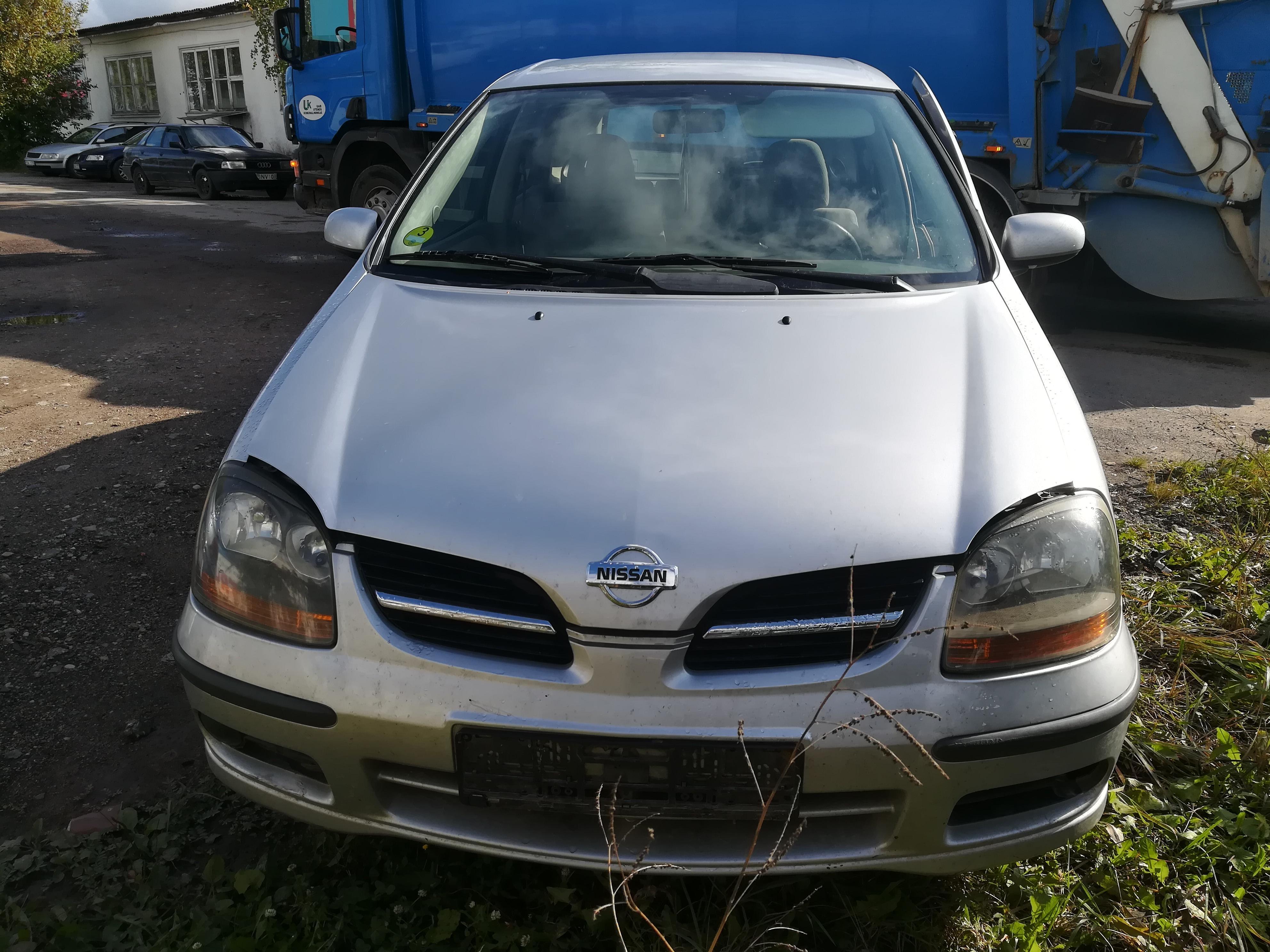 Naudotos automobilio dalys Nissan ALMERA TINO 2001 2.2 Mechaninė Vienatūris 4/5 d. Pilka 2019-9-19